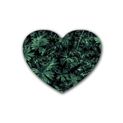 Dark Flora Photo Heart Coaster (4 Pack)  by dflcprints
