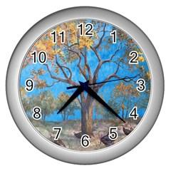 Turkeys Wall Clocks (silver)  by theunrulyartist