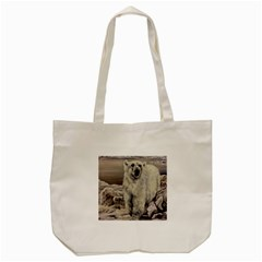 Polar Bear Tote Bag (cream) by ArtByThree