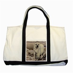 Polar Bear Two Tone Tote Bag by ArtByThree