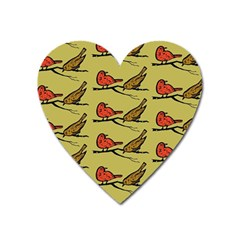 Bird Birds Animal Nature Wild Wildlife Heart Magnet by Amaryn4rt