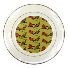 Bird Birds Animal Nature Wild Wildlife Porcelain Plates by Amaryn4rt