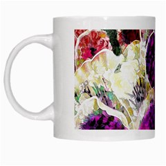 Background Flowers White Mugs