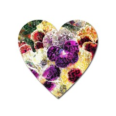 Background Flowers Heart Magnet by Amaryn4rt