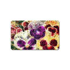 Background Flowers Magnet (Name Card) by Amaryn4rt