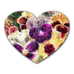 Background Flowers Heart Mousepads by Amaryn4rt