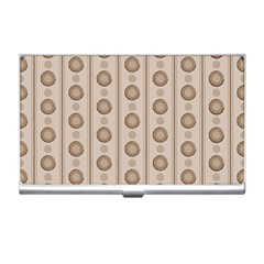 Background Rough Stripes Brown Tan Business Card Holders by Amaryn4rt