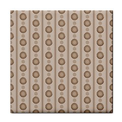Background Rough Stripes Brown Tan Face Towel by Amaryn4rt