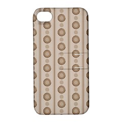 Background Rough Stripes Brown Tan Apple Iphone 4/4s Hardshell Case With Stand by Amaryn4rt