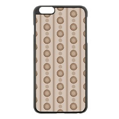 Background Rough Stripes Brown Tan Apple Iphone 6 Plus/6s Plus Black Enamel Case by Amaryn4rt