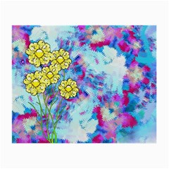 Backdrop Background Flowers Small Glasses Cloth (2 Side) by Amaryn4rt