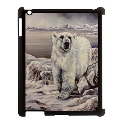 Polar Bear Apple Ipad 3/4 Case (black) by ArtByThree