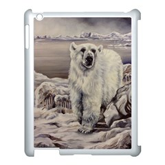 Polar Bear Apple Ipad 3/4 Case (white) by ArtByThree