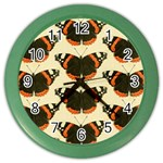Butterfly Butterflies Insects Color Wall Clocks Front