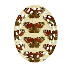 Butterfly Butterflies Insects Ornament (oval Filigree) by Amaryn4rt