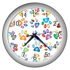 Colorful Prismatic Rainbow Animal Wall Clocks (silver)  by Amaryn4rt