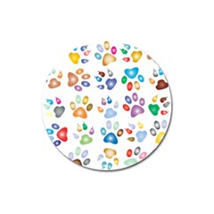 Colorful Prismatic Rainbow Animal Magnet 3  (round) by Amaryn4rt