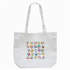 Colorful Prismatic Rainbow Animal Tote Bag (White) by Amaryn4rt