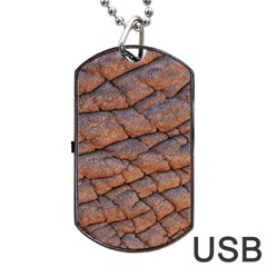 Elephant Skin Dog Tag Usb Flash (two Sides) by Amaryn4rt