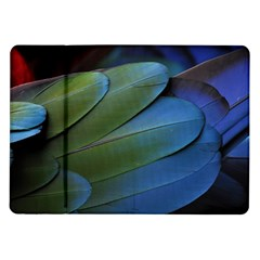 Feather Parrot Colorful Metalic Samsung Galaxy Tab 10 1  P7500 Flip Case by Amaryn4rt