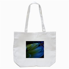 Feather Parrot Colorful Metalic Tote Bag (white)