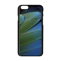Feather Parrot Colorful Metalic Apple Iphone 6/6s Black Enamel Case