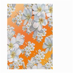 Flowers Background Backdrop Floral Small Garden Flag (two Sides)