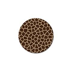 Giraffe Animal Print Skin Fur Golf Ball Marker by Amaryn4rt