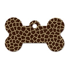 Giraffe Animal Print Skin Fur Dog Tag Bone (two Sides)