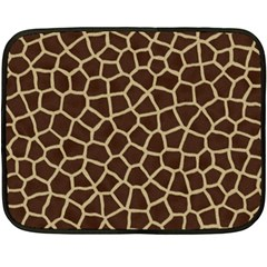 Giraffe Animal Print Skin Fur Double Sided Fleece Blanket (mini)  by Amaryn4rt