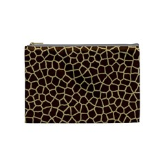 Giraffe Animal Print Skin Fur Cosmetic Bag (medium)  by Amaryn4rt