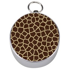 Giraffe Animal Print Skin Fur Silver Compasses by Amaryn4rt