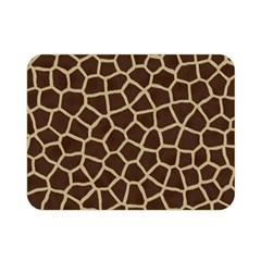Giraffe Animal Print Skin Fur Double Sided Flano Blanket (mini)  by Amaryn4rt