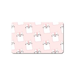 Pattern Cat Pink Cute Sweet Fur Magnet (name Card) by Amaryn4rt