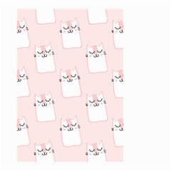 Pattern Cat Pink Cute Sweet Fur Small Garden Flag (two Sides)