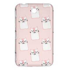 Pattern Cat Pink Cute Sweet Fur Samsung Galaxy Tab 3 (7 ) P3200 Hardshell Case  by Amaryn4rt