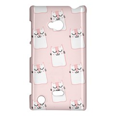 Pattern Cat Pink Cute Sweet Fur Nokia Lumia 720 by Amaryn4rt