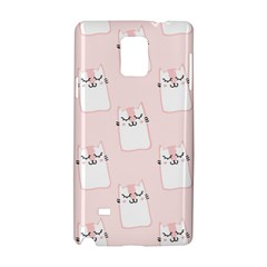 Pattern Cat Pink Cute Sweet Fur Samsung Galaxy Note 4 Hardshell Case by Amaryn4rt