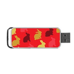 Hare Easter Pattern Animals Portable Usb Flash (two Sides)