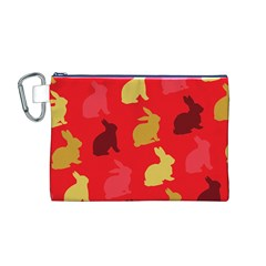 Hare Easter Pattern Animals Canvas Cosmetic Bag (M)
