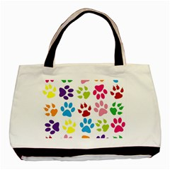 Paw Print Paw Prints Background Basic Tote Bag by Amaryn4rt