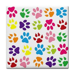 Paw Print Paw Prints Background Face Towel by Amaryn4rt