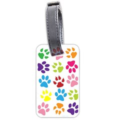 Paw Print Paw Prints Background Luggage Tags (two Sides) by Amaryn4rt