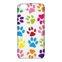 Paw Print Paw Prints Background Apple Iphone 5c Hardshell Case by Amaryn4rt