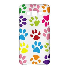 Paw Print Paw Prints Background Samsung Galaxy A5 Hardshell Case  by Amaryn4rt