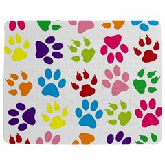 Paw Print Paw Prints Background Jigsaw Puzzle Photo Stand (rectangular) by Amaryn4rt