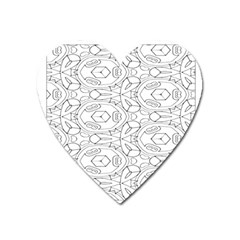 Pattern Silly Coloring Page Cool Heart Magnet by Amaryn4rt