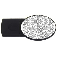 Pattern Silly Coloring Page Cool Usb Flash Drive Oval (2 Gb) by Amaryn4rt