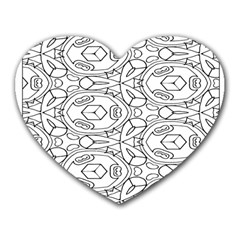 Pattern Silly Coloring Page Cool Heart Mousepads by Amaryn4rt