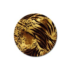 Pattern Tiger Stripes Print Animal Magnet 3  (round) by Amaryn4rt